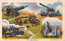 UNITED STATES FIELD ARTILLERY~ARMY SIGNAL CORPS MILITARY POSTCARD 1942 PMK