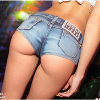 Sexy Women Mini Hot Pants Jeans Micro Shorts Denim Daisy Dukes Low Waist Beach