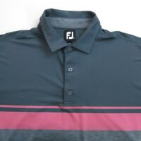 FootJoy Mens Golf Polo Shirt Size XL Short Sleeve Gray Pink