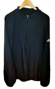 Adidas 2XL Climaproof Wind Half Zip Jacket Navy Blue 2007 100% Polyester XXL