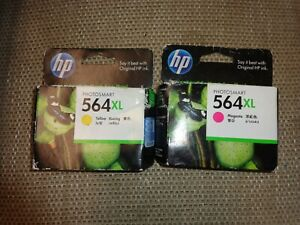 Genuine HP 564XL 2 Colours Ink Cartridge  Magenta Yellow sealed boxs Out of date