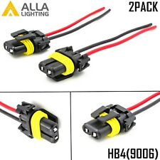 Alla Lighting 9006 Socket Female Adapter Wiring Harness Pigtail Plug Connector