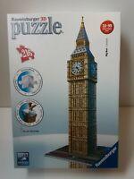 RAVENSBURGER 3D PUZZLE - BIG BEN LONDON - 216 PIECES *COMPLETE* (550)