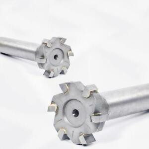 KLOT 2pcs Welding Carbide Tipped T Slot Milling Cutter 25mm-45mm Keyway/T Groove