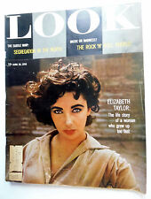 LOOK Magazine 6/26/56 ELIZABETH TAYLOR Negroes in USA ROCK N' ROLL Articles ak