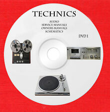 Technics Audio Repair Service owner manuals dvd 1 of 2 in pdf format