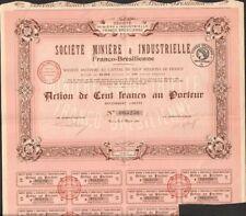 Société Minière & Industrielle FRANCO-BRÉSILIENNE (FRANCE BRÉSIL) (U)