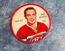 Shirriff / Salada coins hockey 1961-62 # 102 Jean Beliveau Montreal lot M4A