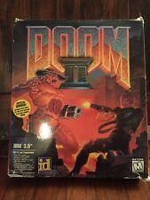 Doom II (PC, 1994) IBM 3.5 Big Box, Floppy Version With Manual & Strategy Guides
