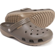 Crocs Duet Clogs Chocolate/Khaki Relaxed Fit Unisex Size Men's 4/Women's 6 NEW!!