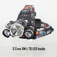 3 CREE XM-L T6 Headlight Zoom Head Torch Light Lamp Cycling Hiking Hunting