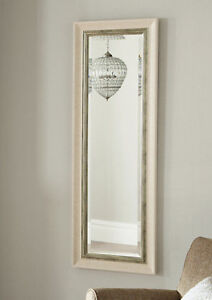 John lewis Orabelle Wall Mirror Full Length Bevelled Glass Ivory silver 132x46cm