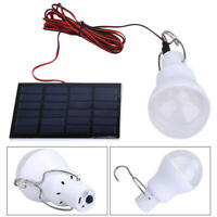 Portable Solar Panel Power LED Bulb Lamp Outdoor Camping Tent Fishing Light 15W