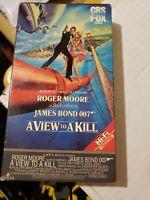 James Bond - A View to a Kill (VHS) CBS FOX