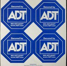 4 ADT SECURITY ALARM STICKERS WATERPROOF INDOOR OUTDOOR no yard sign