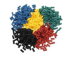 25 MANICOTTI GUAINA TERMORESTRINGENTE mix 5 colori 3mm termoretraibile termica