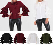 Unbranded Chiffon Tops & Shirts for Women with Ruffle