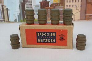 Vintage Prewar Lionel No.0209 Box Of Six Small Barrels - For Work Train Set