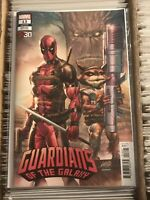 GUARDIANS OF THE GALAXY #13 DEADPOOL 30th ANNIVERSARY ROB LIEFELD VARIANT COVER