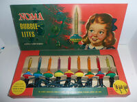 Vintage NOMA Bubble-Lites No 509 Christmas Tree Lights in Original NEAR MINT Box