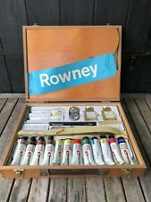 Vintage Rowney Oil Pants Art Box With Contents New Old Stock Unused