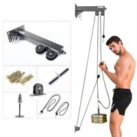 Fitness Home Diy Pulley Cable Machine Blaster Trainer Attachments Triceps Biceps