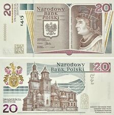■■■ Poland 20 zl P-188 2015 600th Anniversary of Birth JAN DLUGOSZ in Folder ■■■