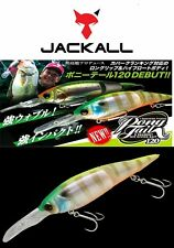 Jackall Ponytail 120mm floating segmented Cod Barra Lure;Chart Back bluegill