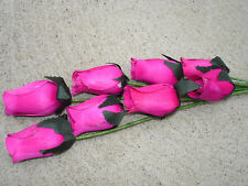 80 pc. Wood Roses Flowers Wholesale Fundraisers Bulk Floral Craft Hot Pink #2