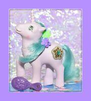 ❤️My Little Pony MLP G1 1987 VTG Princess Ponies SPARKLE Amethyst Aqua Tinsel❤️