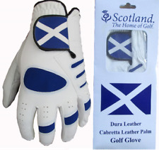 Scotland Cabretta Leather or All Weather Golf Gloves 1 2 3 4 5
