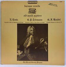 Lentz Telemann Handel Concertos Mozart Society Players Baroque 2860 Vinyl LP