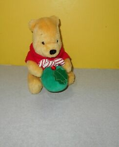 "6"" Gund Winnie the Pooh Plush 100 Acre Collection Disney Bear Christmas Ornament"
