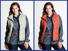 Lands' End ~ DriOff Water-Repellent Women's 600 Fill Down Vest $65 NIP