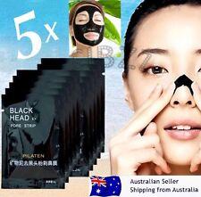 5x Pcs PILATEN Black Mask Face Nose Blackhead Remover Pore Cleansing Strips