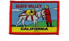 """Death Valley California Mule Patch - 2 1/2"""" x 3 1/4"""" Free Shipping!"""