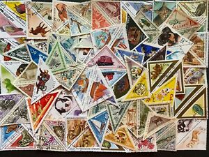Thematic Stamp Packet Odd Shape-  Triangular stamps 100 Difference