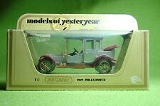 Maqueta de coche-Matchbox-models of Yesteryear y-7 - 1912 rolls royce-en su embalaje original