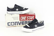 NOS Vtg 90s Converse One Star Suede Oxford Shoes Navy White Womens 6.5 Mens 4.5