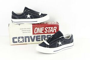 NOS Vtg 90s Converse One Star Suede Oxford Shoes Navy Blue White Womens 6 Mens 4