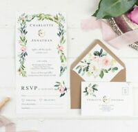 Wedding Invitation - Floral Romance