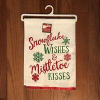 Snowflake Wishes & Mistletoe Kisses Christmas Morning Holiday Towel New