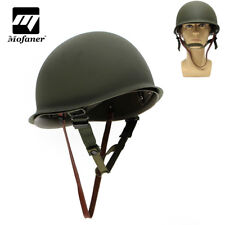 WW2 USA Military Steel M1 Helmet WWII Army Liner Equipment CS Cosplay Green Gift