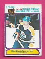 1980-81 OPC  # 3 OILERS WAYNE GRETZKY RECORD BREAKER EX CARD (INV# D1525)