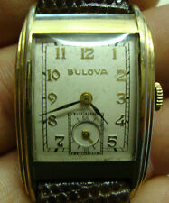Vintage gents gold plated BULOVA wristwatch