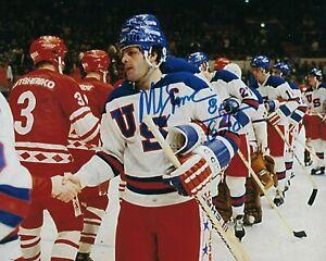 GFA 1980 Miracle on Ice Captain MIKE ERUZIONE Signed 8x10 Photo M1 COA