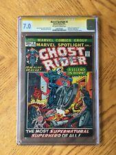 Marvel Spotlight #5 Signed by Roy Thomas 1st Ghost Rider 7.0 FN/VF CGC