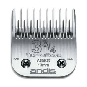 Andis UltraEdge Detachable Blade, Size 3 3/4 Skip - Leaves 13mm Fits Andis, Wahl