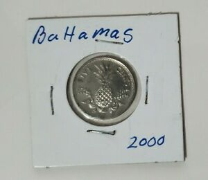 Bahamas 2000 - 5 Cent Coin - National arms above date - Pineapple