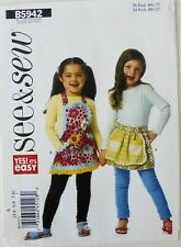 See & Sew 5942 Yes It's Easy Girls Tops Shorts Sewing Pattern Sz 3-8